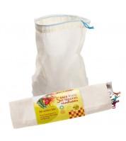 Lot de 5 sacs coton gradués réutilisables pour aliments