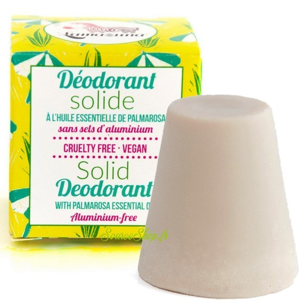 Déodorant solide au palmarosa Lamazuna