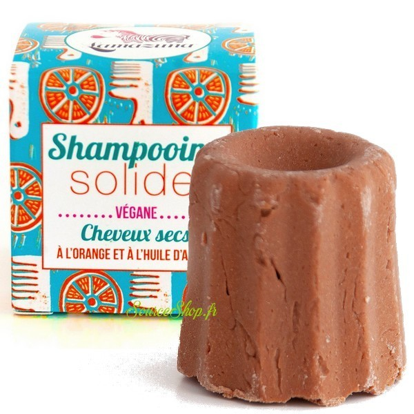 Shampooing solide pour cheveux secs à l'orange et huile d'argan - Lamazuna