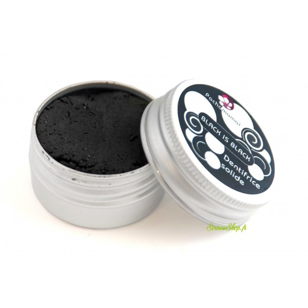 Dentifrice solide au charbon