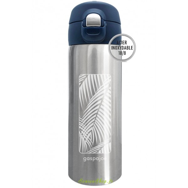 Mug inox isotherme Trendy - 350ml - Palmier - Inox 18/10 - Gaspajoe