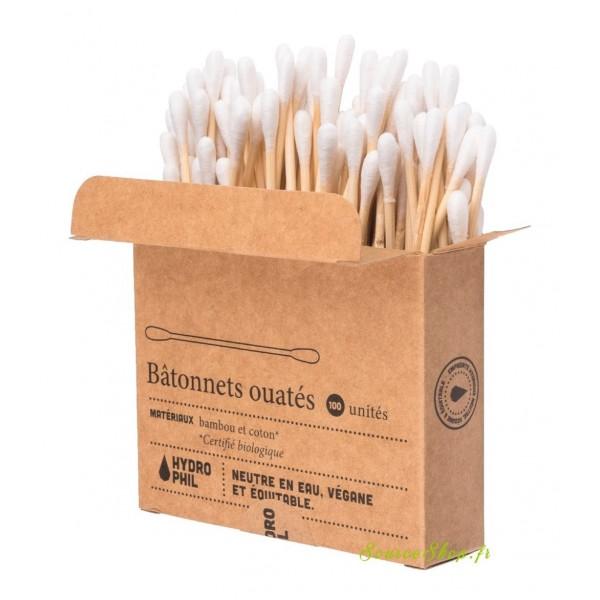 Boîte de 100 Coton-tiges BIO en bambou