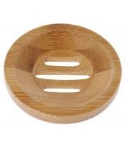 Porte-savon rond en bambou