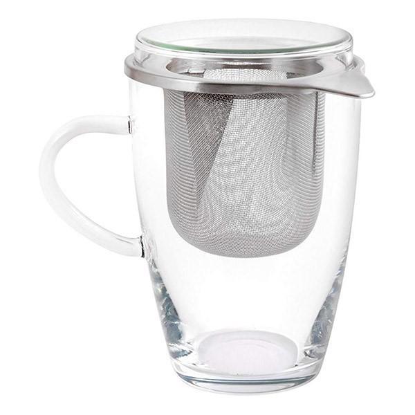 Verre à infusion avec couvercle & filtre en inox - 35cl - Ah! Table!