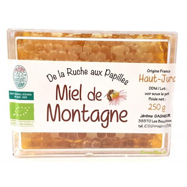 Miel en rayon BIO de montagne du Haut-Jura
