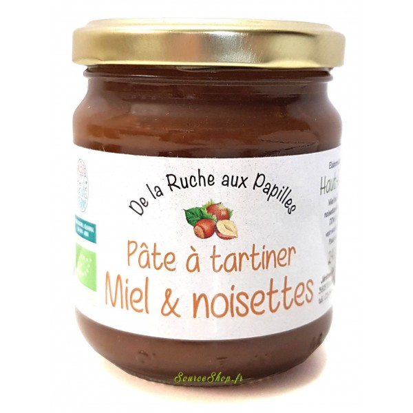 Pâte à tartiner BIO miel & noisettes du Haut-Jura