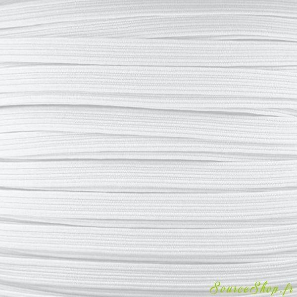 Elastique masque - Blanc - 1m x 5mm