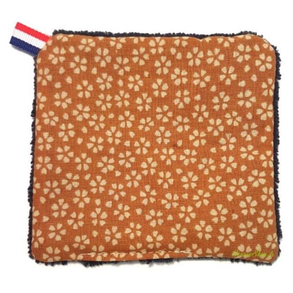 Lingette démaquillante réutilisable & lavable - fibre de bambou