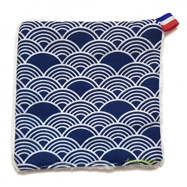 Lingette réutilisable & lavable - Artisanale & Française - fibre de bambou