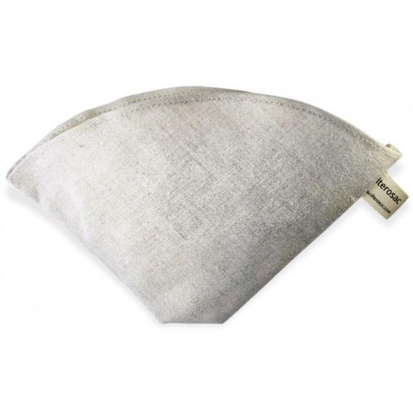 Filtre à café BIO réutilisable & lavable en lin - Alterosac