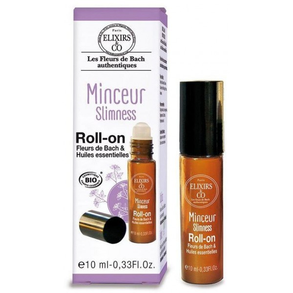 Roll-On Minceur BIO - Fleurs de Bach - 10 ml - Elixirs & Co.