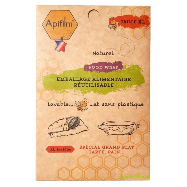 Emballage alimentaire BIO à la cire d'abeille - XL - Apifilm