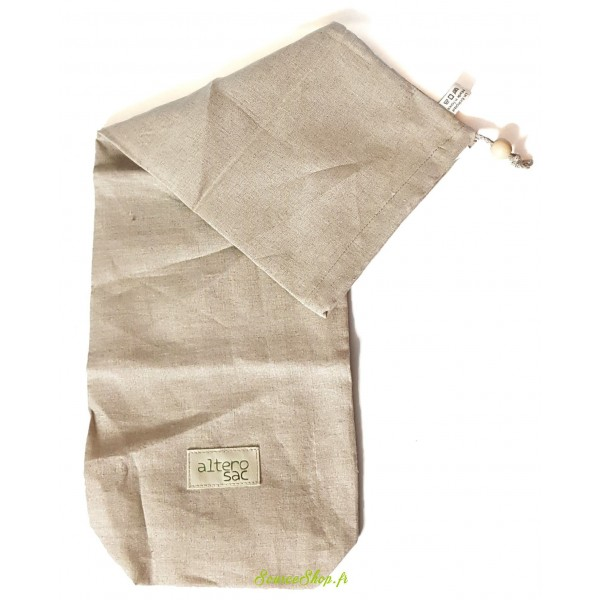 Sac à baguette BIO réutilisable en lin - Alterosac