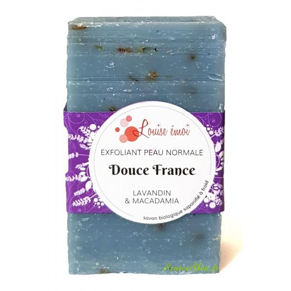 Savon exfoliant BIO lavandin & macadamia - Douce France - Louise émoi