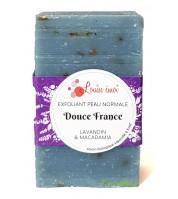 "Savon exfoliant BIO au lavandin & macadamia - ""Douce France"""