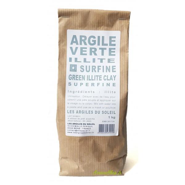 Argile Verte illite - Surfine - Les Argiles du Soleil