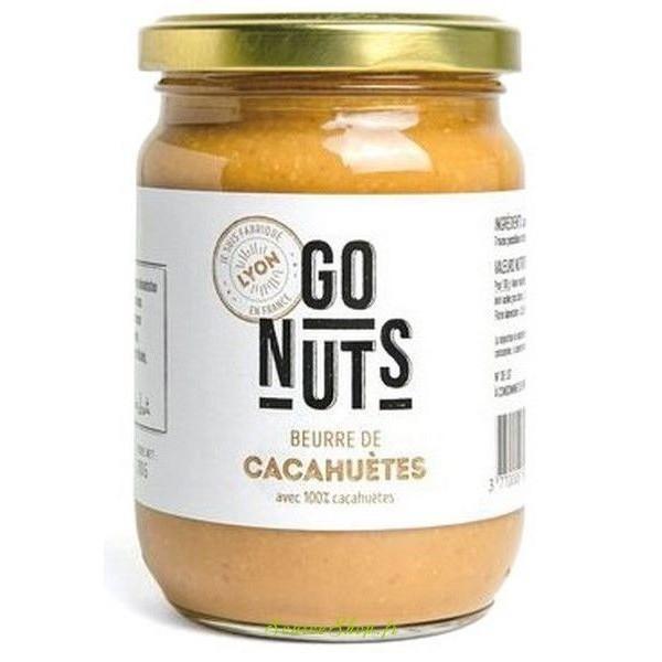 Beurre de cacahuètes BIO brut - 270g - Go Nuts