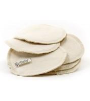 Lot de 6 Coussinets d'allaitement en coton BIO lavables & réutilisables