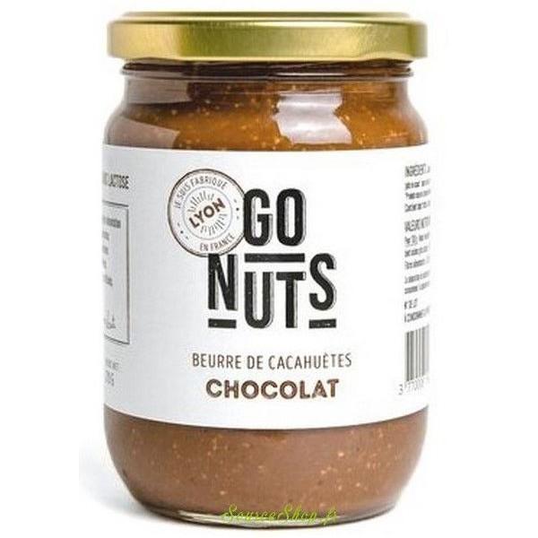 Beurre de cacahuètes BIO au chocolat - 270g - Go Nuts