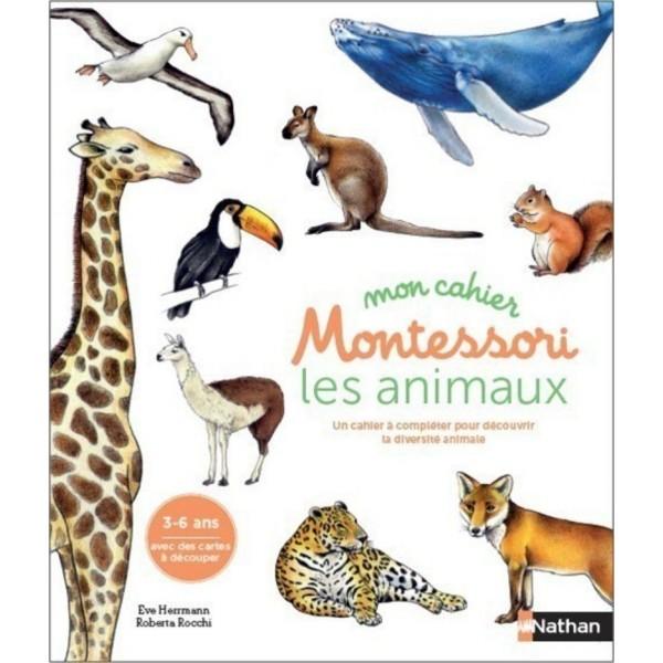 Mon cahier Montessori - Les animaux des continents - 3/6 ans - Nathan
