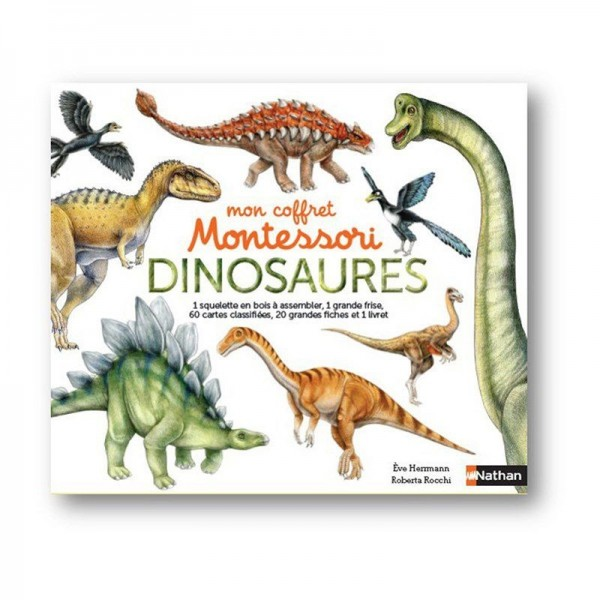 Mon coffret Montessori dinosaures - Nathan