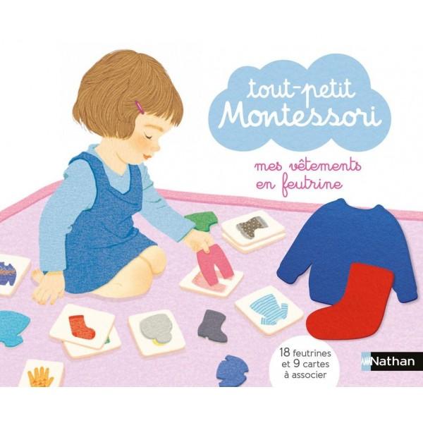 Tout-petit Montessori - Mes vêtements en feutrine - Nathan