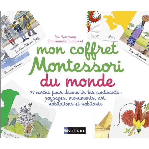 Mon coffret Montessori du monde - Nathan