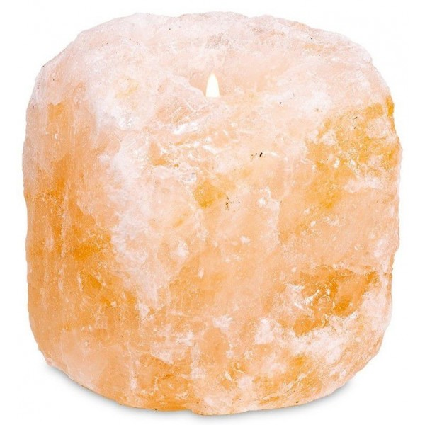 Bougeoir en cristal de sel - 800g à 1200g