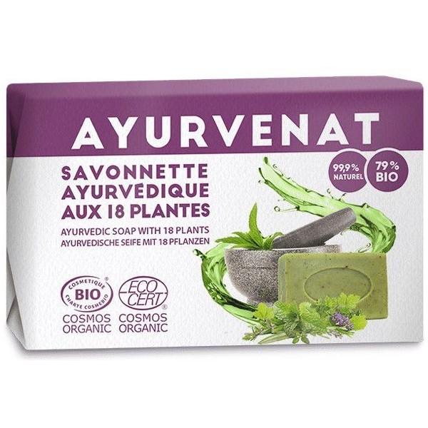 Savon ayurvédique BIO aux 18 plantes - 100g - Ayurvenat