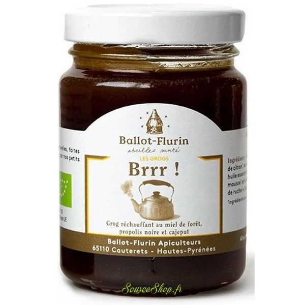 Grog BIO réchauffant au miel & propolis - 125g - Ballot Flurin