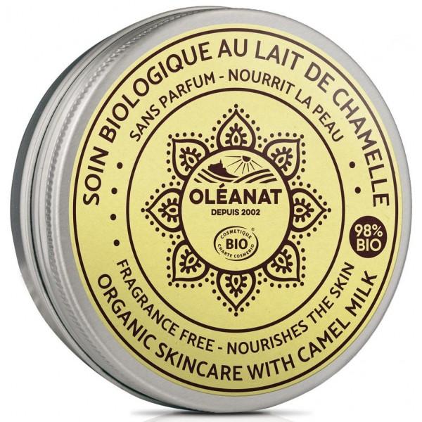 Baume BIO au lait de chamelle - sans parfum - 50 ml - Oléanat