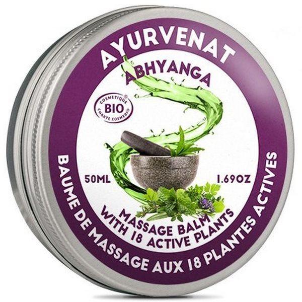 Baume de massage BIO énergisant & équilibrant aux 18 plantes - Abhyanga