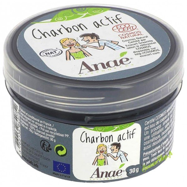 Charbon actif BIO en poudre - 30g - Anaé