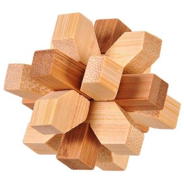 Casse-tête flocon en bambou