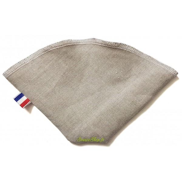 Filtre à café réutilisable & lavable en lin BIO GOTS - Artisanal & Français