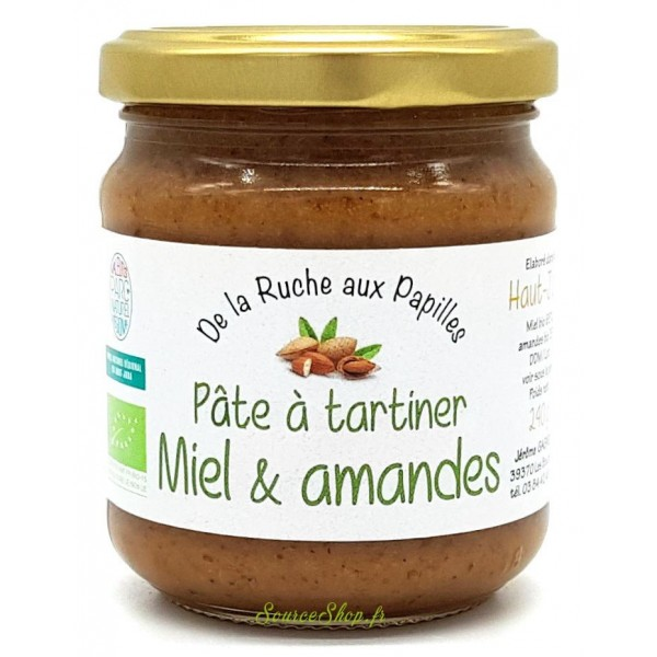 Pâte à tartiner BIO miel & amandes du Haut-Jura