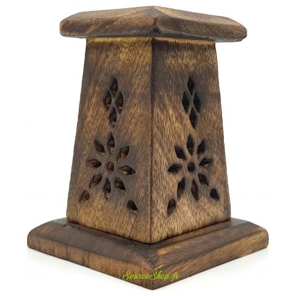 Brûleur d'encens en bois - Format mini