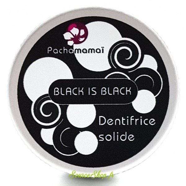 Dentifrice solide au charbon - Black is Black - Pachamamaï