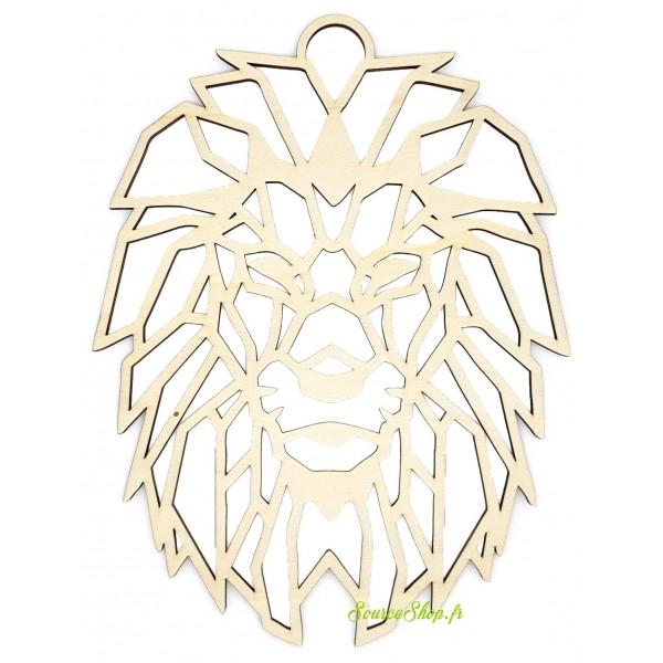 Lion origami en bois - Artisanal & Français