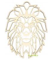 Lion origami en bois