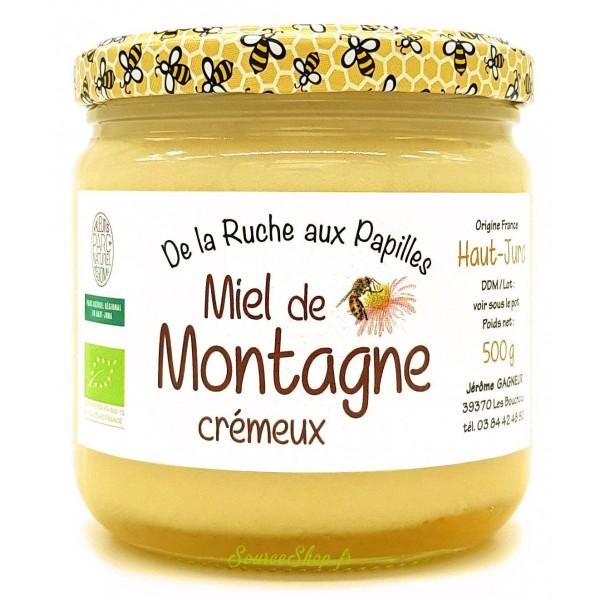 Miel de montagne BIO crémeux du Haut-Jura - 250g ou 500g