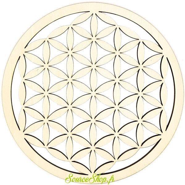 Mandala fleur de vie en bois - Artisanal & Français