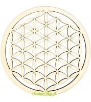 Mandala fleur de vie en bois