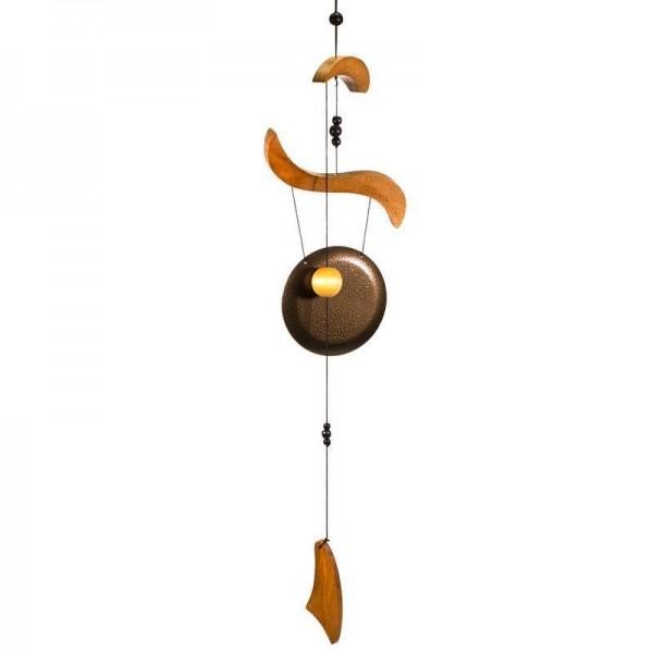 Carillon à vent Cong feng shui en bois - 70 cm