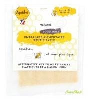 Emballage alimentaire à la cire d'abeille - Small