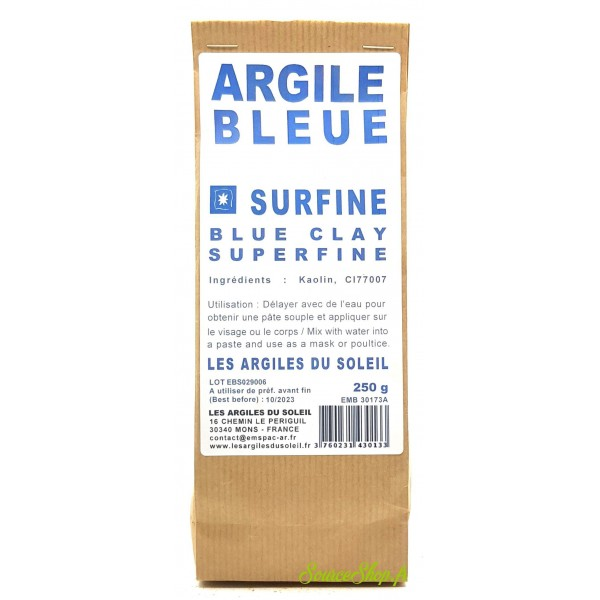 Argile bleue du Sud - Surfine - Les Argiles du Soleil