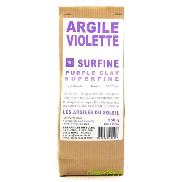 Argile violette - Surfine - Les Argiles du Soleil