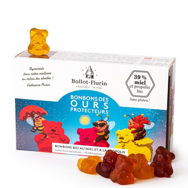 Bonbons BIO au miel & propolis - Bonbons des ours protecteurs