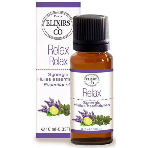Synergie d'huiles essentielles Relax - 10 ml - Elixirs & Co.