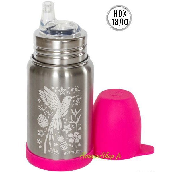 Gourde inox pour enfants Sippy - 350ml - Colibri
